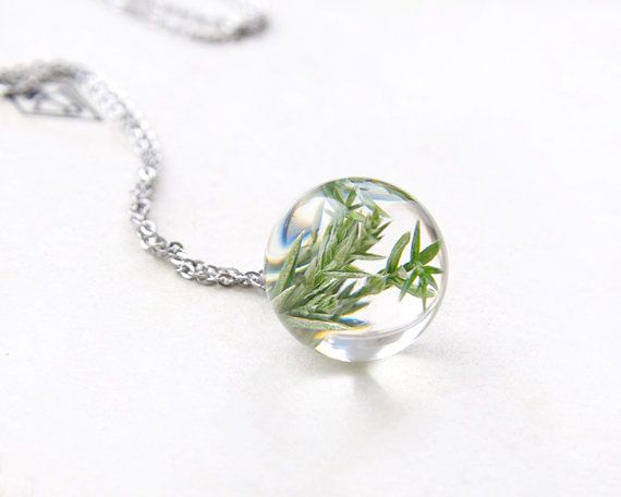 Real Juniper necklace Christmas tree green pendant by UralNature