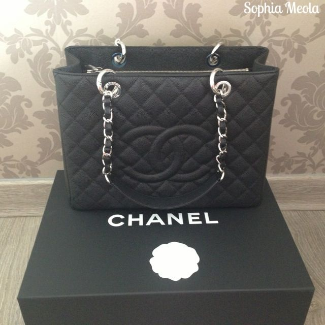 #Chanel GST in Black Caviar & Silver Hardware.. What a beauty.. A mixture of elegance and sophistication.. If only your cost was less than an arm lol..