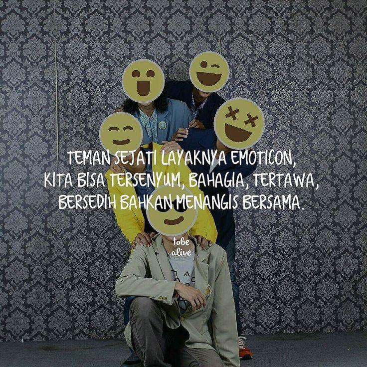 """""""Teman sejati layaknya Emoticon kita bisa tersenyum bahagia tertawa bersedih bahkan menangis bersama."""" .  Kiriman dari @bpupki .  Tag like dan Comment.  Kirim (DM /Tag) kata-kata buatanmu ya.  #pathdaily #yangterdalam #tumblrquotes #quotesindonesia #sajak #puisi #sastra #kutipan #katakata #pathindonesia #catatanfilm #pecahankaca #indopostgram"""