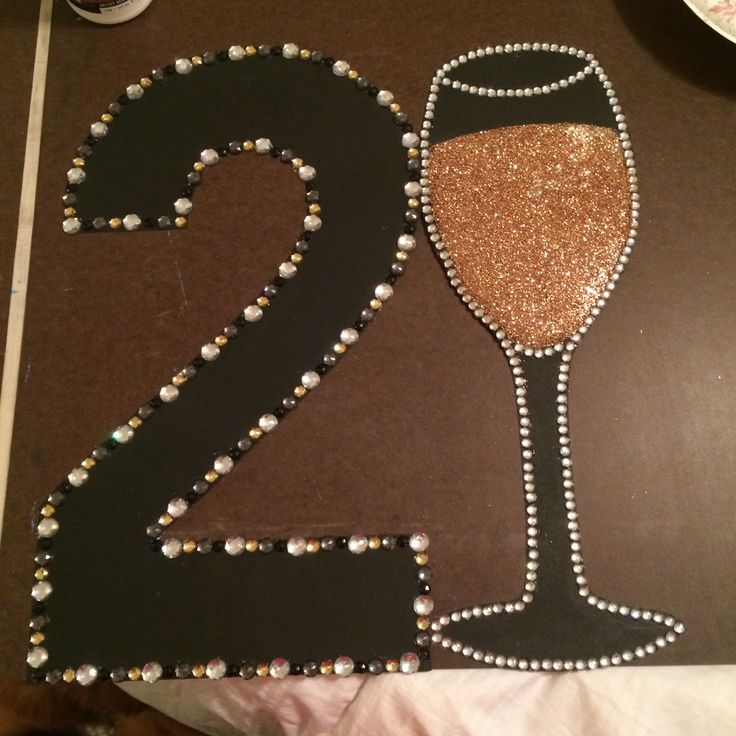 Lynn's 21st birthday sign we made her!