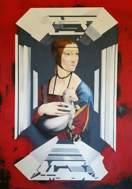 Secret Da Vinci- 2015 Oil on canvas 210x 144 cm  Müller Contemporary Art  Imre Müller