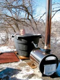 How to build wood fired hot tub