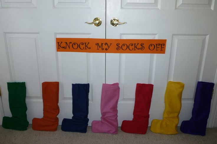 Primary Program Practice ideas that don't involve food: Knock your socks off.