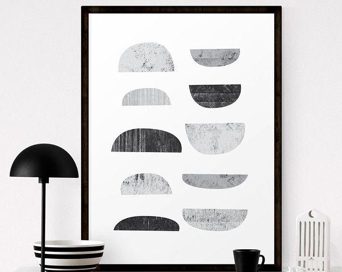 Arte della parete stampabile, Boho Decor, scandinavo stampa, arte astratta, arte in bianco e nero, arte geometrica, arte scandinava, Download digitale