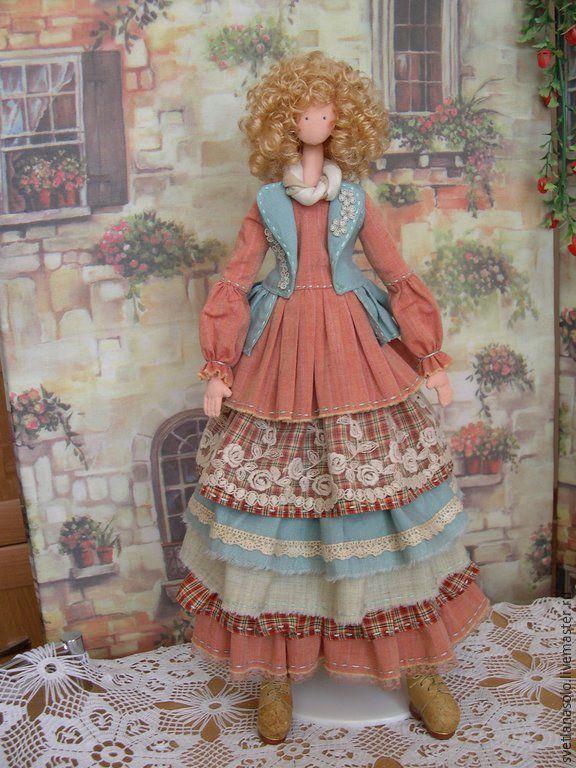 Купить Интерьерная кукла Ульяна (стиль Шебби Шик) - кукла, кукла тряпиенс, тряпиенс ☆