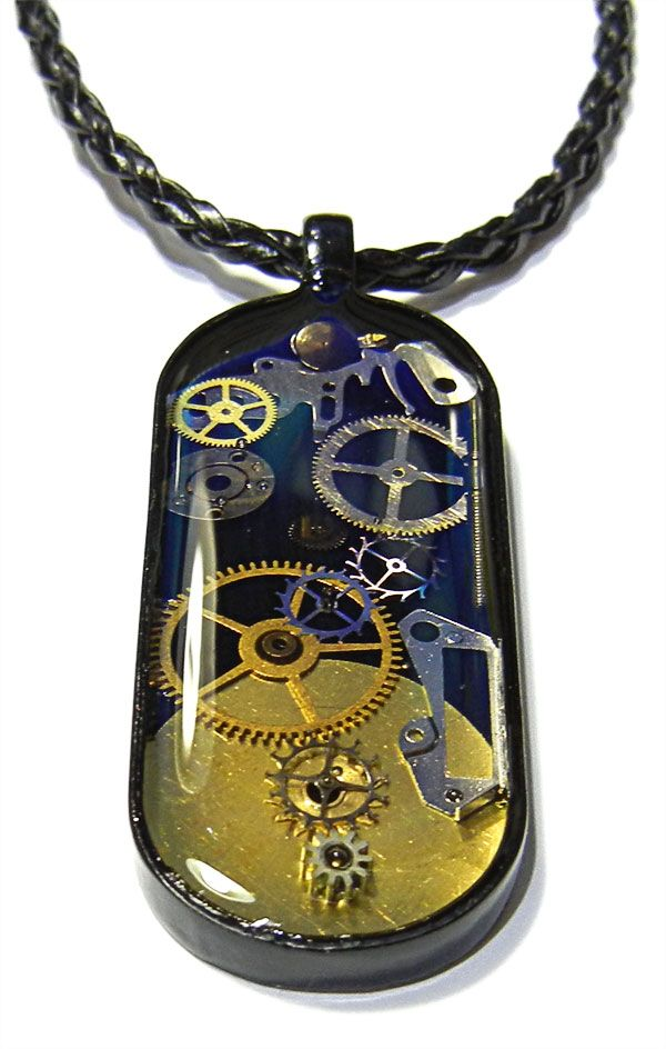 Clock Epoxy Pendant....Hmmm, wonder how hard this would be to make???