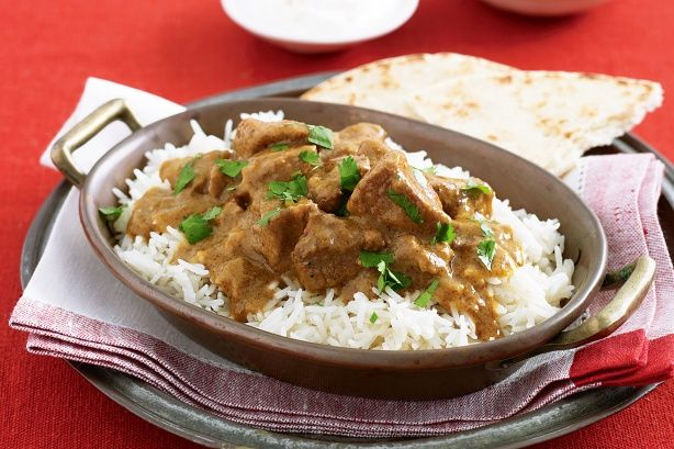 Slow cooked lamb curry yum