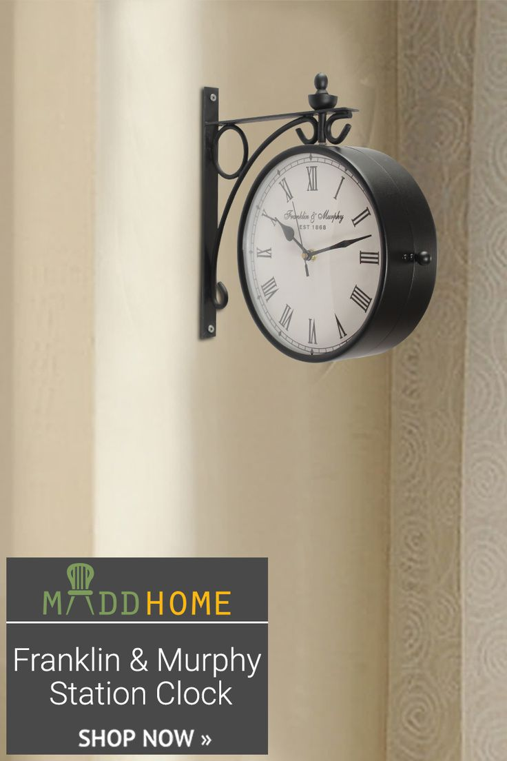 Bring home Franklin & Murphy Station #Clock to give a retro and contemporary look to your #decor  Get huge discounts: https://goo.gl/ALG9q6