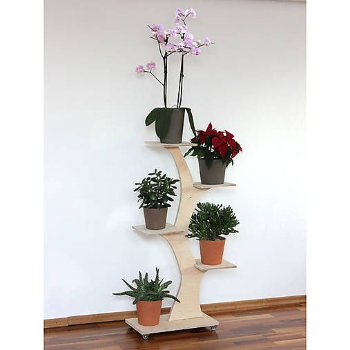 Plywood plant stand  retro-design / Strom- Stojan na Kvety a Bylinky Natur