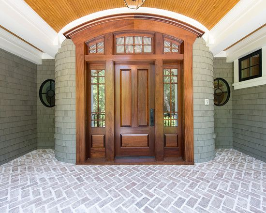 Traditional front doors design pictures remodel decor for Main door side designs