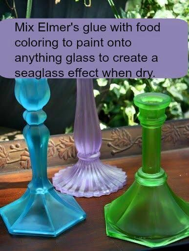 Seal your work with a clear semi-gloss spray paint or dish-washer safe Mod Podge.