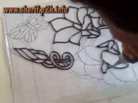 تعليم الرسم على الزجاج 1 -- الريليف
