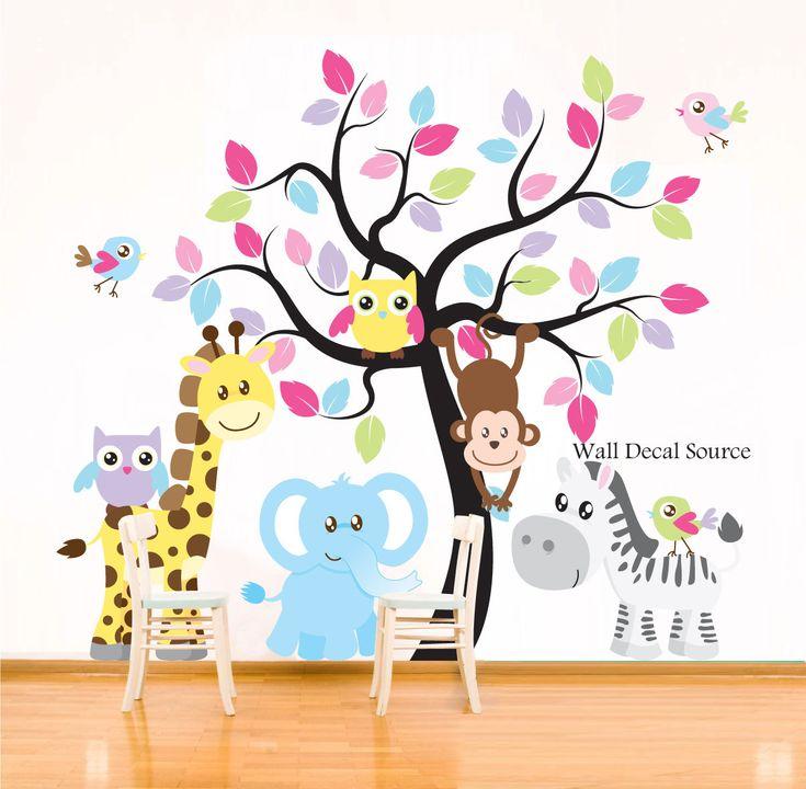 Best Jungle Nursery Images On Pinterest Jungle Nursery - Nursery wall decals jungle