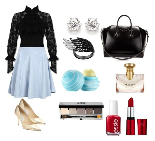 Miércoles. by catatrujillou on Polyvore featuring polyvore, fashion, style, Boohoo, Jimmy Choo, Givenchy, Bobbi Brown Cosmetics, Bulgari, Eos and Essie