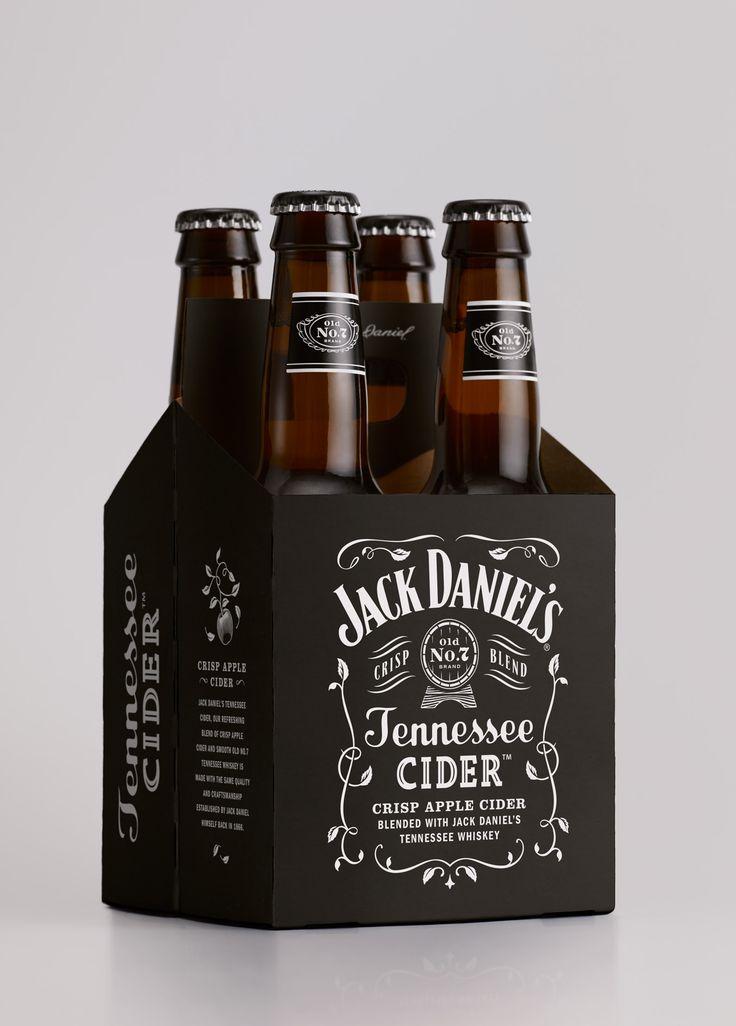 Jack Daniel's / Design / Branding / Tennessee Cider / Cider / Hard Cider / Apple / Whiskey / Old No.7 / Carry Case / Multipack /  Black & White