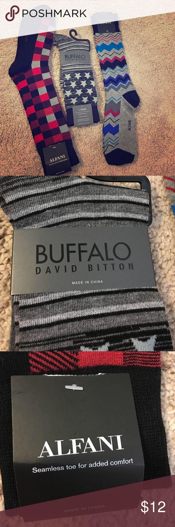 Set of 3 pairs of Dress socks!! Brand new, still have tags on them! Best deal on Poshmark. Buffalo David Bitton Underwear & Socks Dress Socks