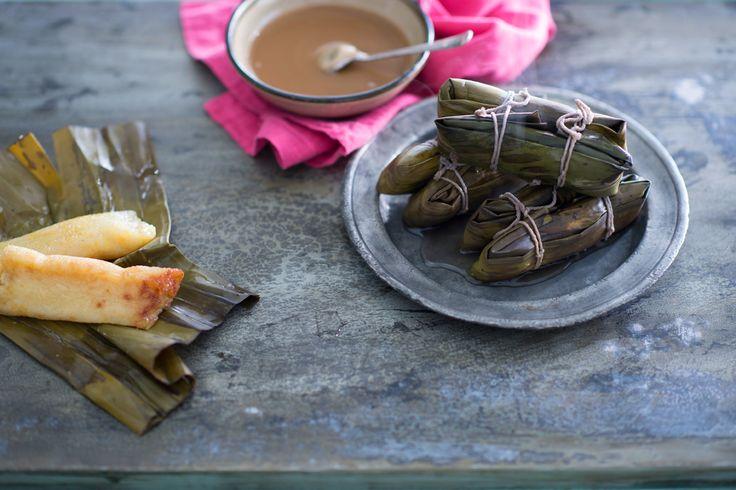 Filipino sweet sticky rice cakes (suman sa lihiya)