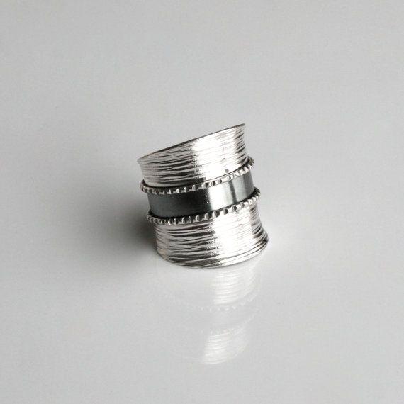 Eenvoudige moderne handgemaakte Sterling Zilver verstelbaar