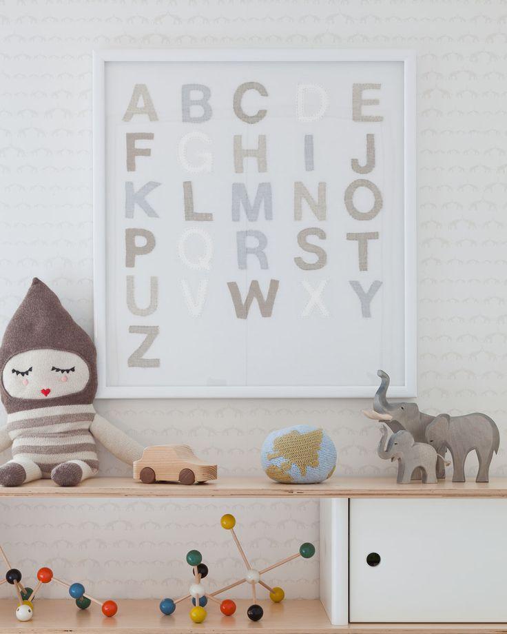 ABC: Elephants Nurseries, Sissy Marley, Nurseries Art, Baby, Neutral Nurseries, Neutral Tones, Nurseries Design, Alphabet Art, Kids Rooms