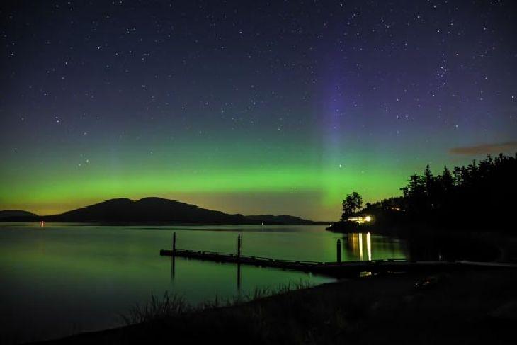 Northern Lights - Anacortes, Washington, USA