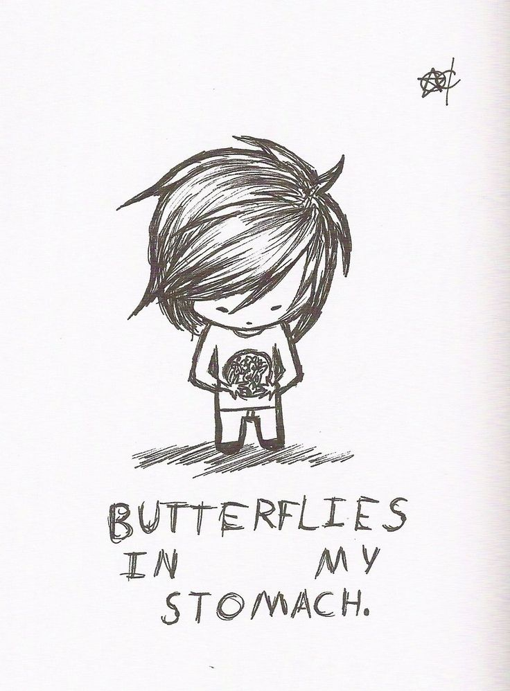 BUTTERFLIES IN STOMACH image quotes at BuzzQuotes.com