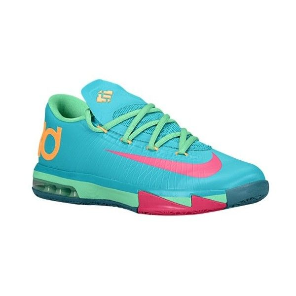 Nike KD VI Boys' Grade School featuring polyvore, shoes, sneakers, nike and kd