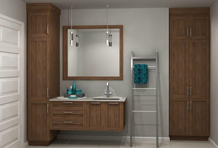 Salle de bain qu bec portfolios kulina armoires de - Tablette salle de bain ikea ...