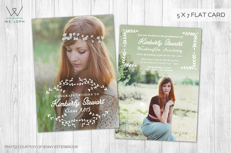 Senior Announcement Graduation card by We♡Loph on Creative Market