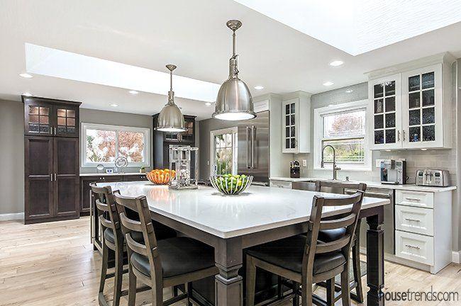 Westerville Renovation Removes Existing Walls To Create Open Floor Plan Home Decor Kitchen Kitchen Design Home Trends