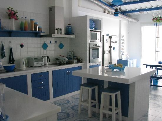 """Greek inspired kitchens - Love it!"" by Elisa Joseph Photo by Homedecor-blog.com  #Kitchen #Design"