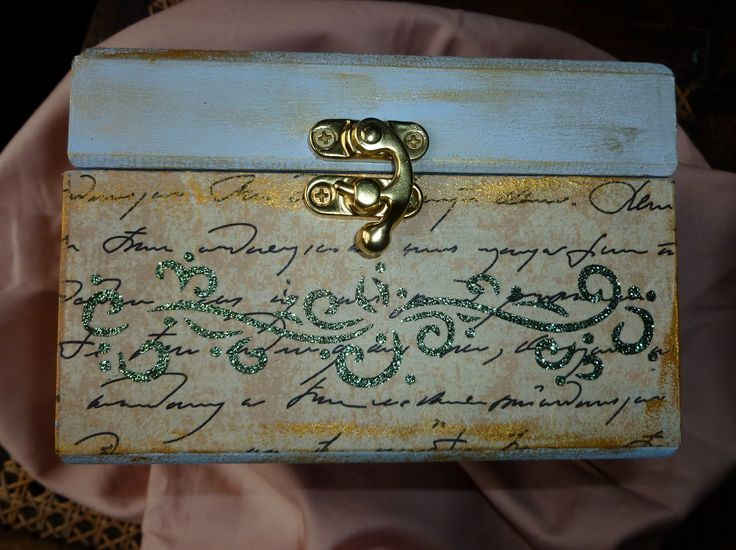 'Butterflies & Roses'  MDF Box, side view.  Products as previous photo of this box.   January 2016.