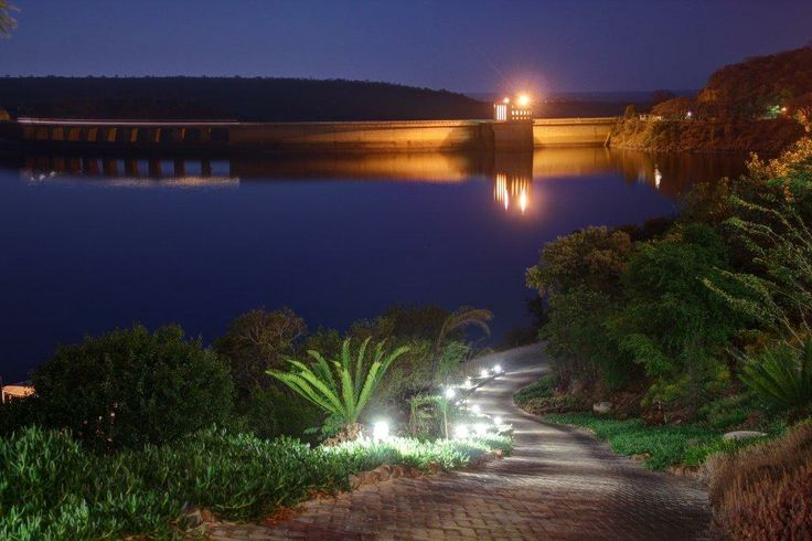 A night view from Jozini Tiger Lodge towards the Dam Wall