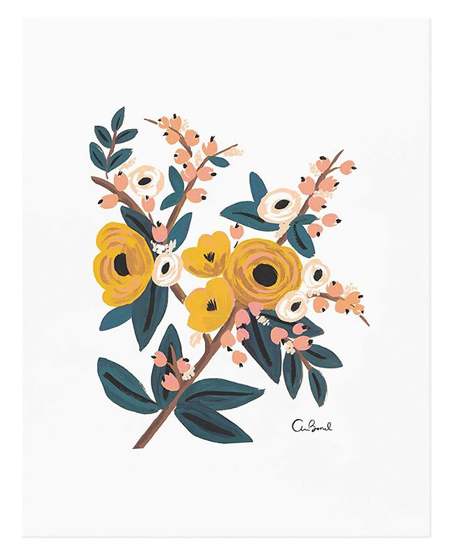 * Marygold botanical print