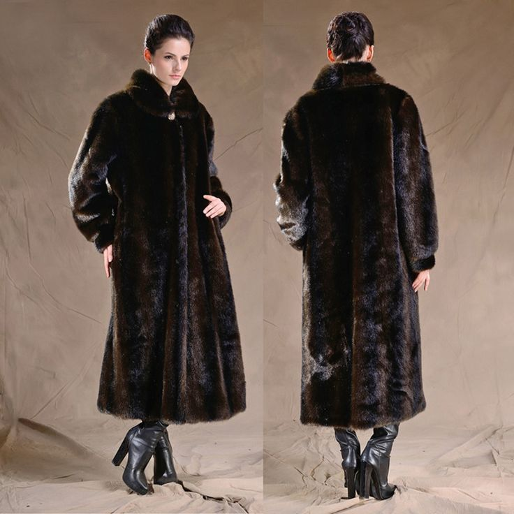 >> Click to Buy << 2017 Winter Fashion Faux Mink Fur Coat for Women Warm Long Fake Fur Coats Plus Size Thickened Overcoat Mother Windbreaker Jacket #Affiliate