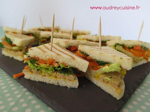 Ptits clubs sandwichs au foie gras