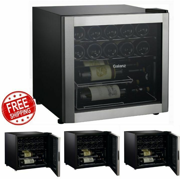 Wine Cooler Chiller Refrigerator Compact Kitchen Countertop 16