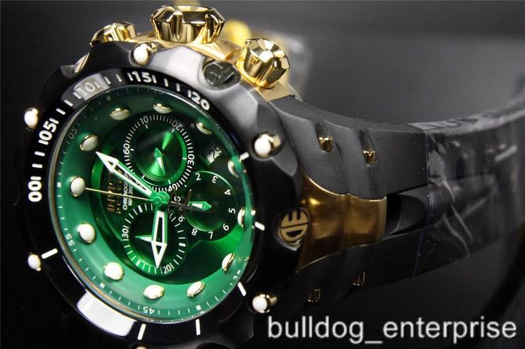 Mens Invicta Reserve Venom II Green Black Gold Chronograph Swiss Watch New | Jewelry & Watches, Watches, Parts & Accessories, Wristwatches | eBay!