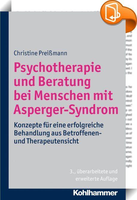 Psychotherapie und Beratung bei Menschen mit Asperger-Syndrom    ::  Die Behandlung autistischer Menschen stellt für alle Beteiligten immer wieder eine Herausforderung dar. Viele wichtige Aspekte der Therapie werden in diesem Buch beschrieben und an Beispielen aus der eigenen Erfahrung der Autorin als Patientin verdeutlicht, die von beiden Seiten berichten kann. Der Titel schließt somit die Lücke zwischen der Fachliteratur einerseits und den Erfahrungsberichten der Betroffenen anderers...