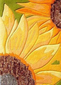 Tapis fait main, hand tuft de luxe 100% laine, collection Floral Fantasy dessin RR-04-04