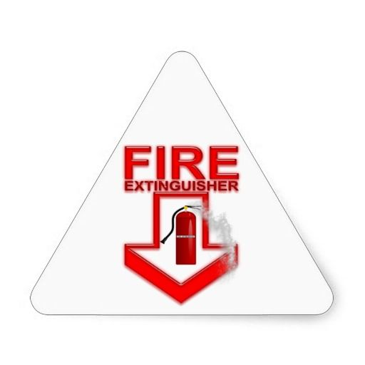 Fire Extinguisher Triangle Sticker