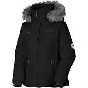 Columbia Oregon Ducks Ladies Black Trinity Bomber Full Zip Hoodie Jacket#Fanatics