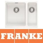 View Item Franke Kubus 1.5 Bowl Granite Polar White Undermount Kitchen Sink KBG160