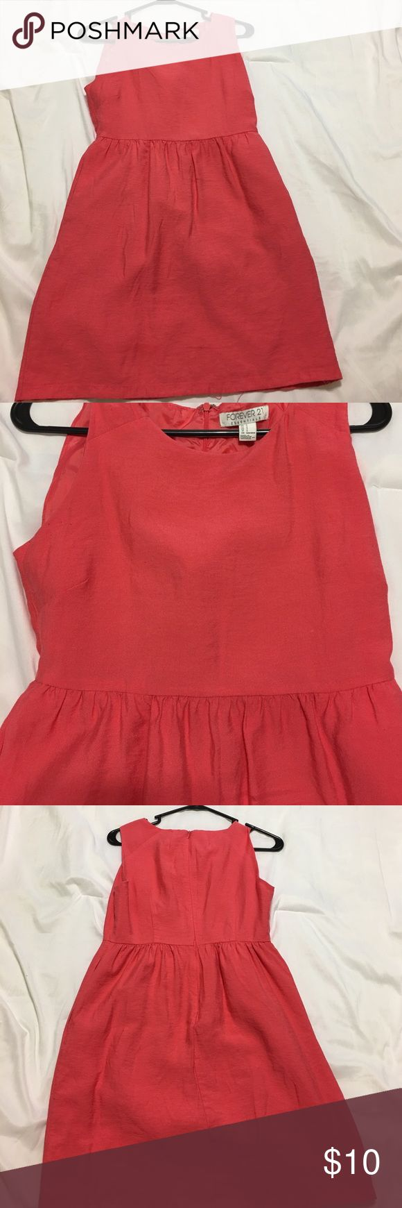 Coral pink dress Beautiful forever 21 coral pink dress Forever 21 Dresses