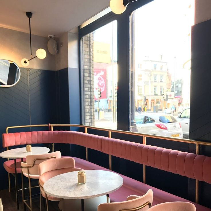 pink banquette seating | restaurant | bar design