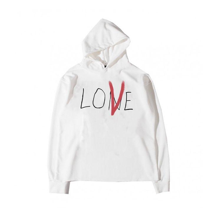 Lone Love Hoodie (White) – Vlone   Одежда   Одежда