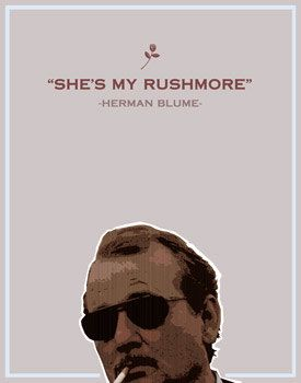Rushmore- Herman Blume- 8x10- wes anderson, bill murray, film, movie, poster, typography, humor. $9.50, via Etsy.