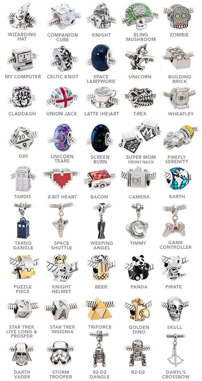 Build Your Own Europeanstyle Charm Bracelet And Charm Beads  Thinkgeek I  Love So