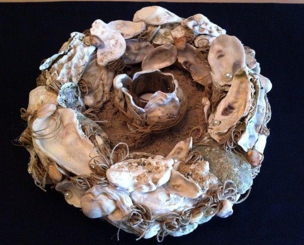 Zomer, prachtige oesterschelpen gekregen voor een namiddagje knutselplezier met dit resultaat.