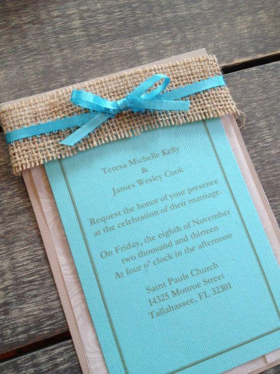 Rustic Burlap Wedding Invitations | Welcome Sponsor: Southern Charm Celebrations - Rustic Wedding Chic