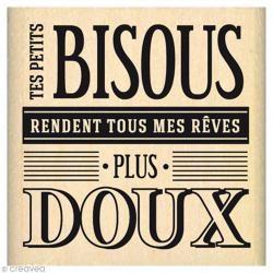Tampon Envolée de douceurs - Doux bisous - 5 x 5 cm
